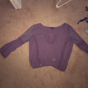 American eagle purple lace shirt